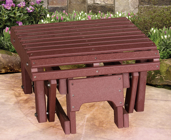 Ohio Amish Outdoor Furniture Of Polyurethane Gliding Ottoman Which Will Last For Generations With Mi