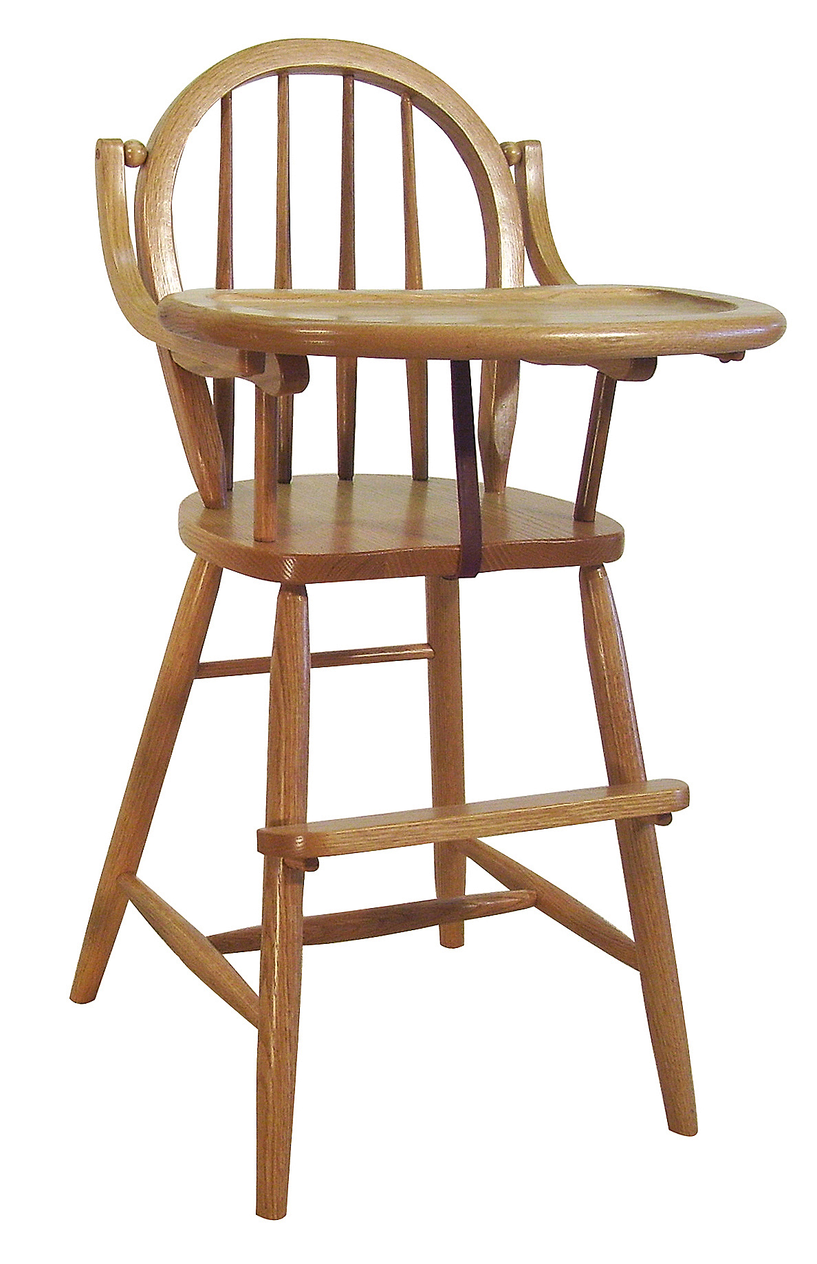 Baby furniture wood high chair amish bow back delivery
