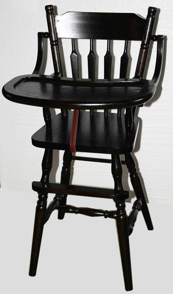 Amish Wooden Chairs ~ Baby furniture wood high chair amish acorn design oak