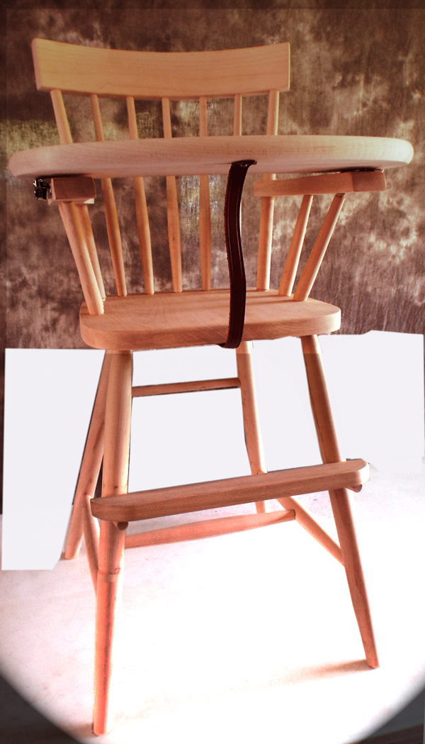 Amish Stained Look Comeback High Chair