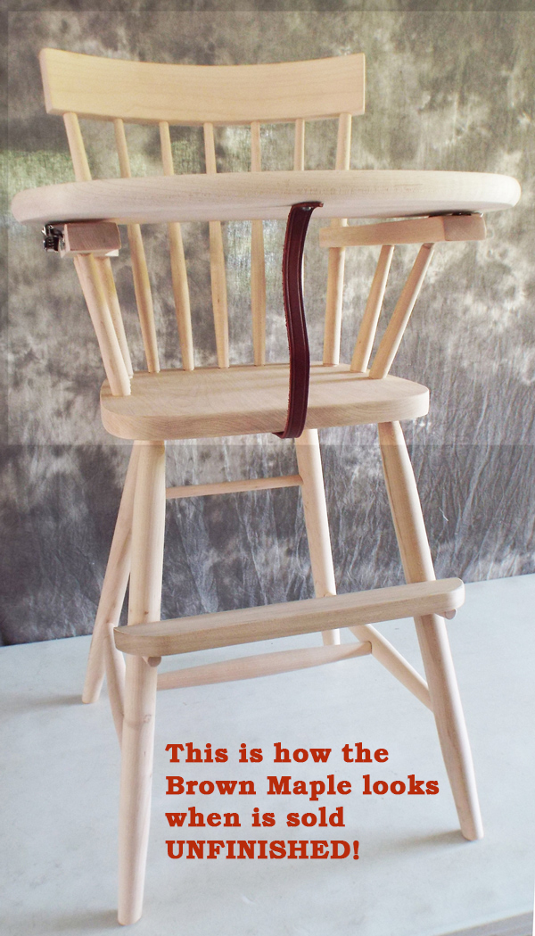 Amish Unfinished Comeback High Chair