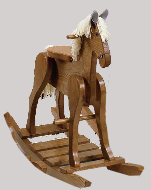 An amish made number 25 large hardwood rocking horse toy for Hand crafted rocking horse