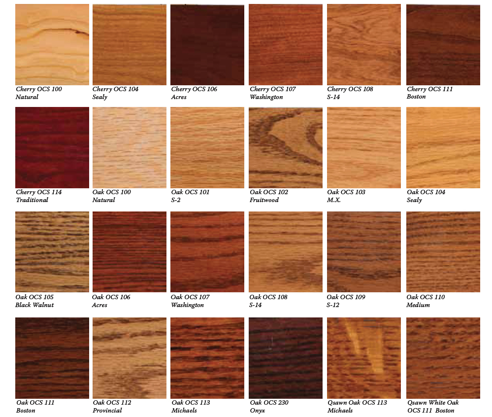 Wood Stain Matching