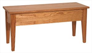 Amish furniture Ohio hinge top bench 36 inch
