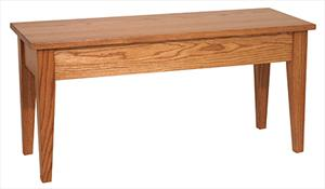 Amish furniture Ohio hinge top bench 36/48 inch
