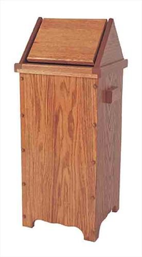 Wood Kitchen Flip Top Trash Cans Amish Oak or Cherry 13 gal. Trash Can Delivery Included