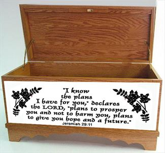 Hope Chest Amish Oak or Cherry Hope Chest Love Never Fails