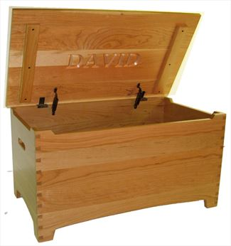 Amish Wooden Toy Box Chest large Cherry Hardwood Shaker dovetail Safety Hinges