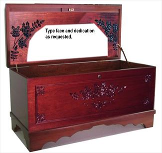 Amish Furniture Hope Chest Cherry MEDIUM Roses Personalized