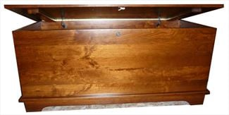 Amish Brown Maple Hardwood Furniture LARGE Dovetail Hope Chest