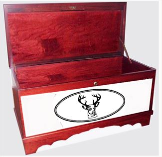 Amish Furniture Hope Chest Cherry MEDIUM DEER Scene Personalized