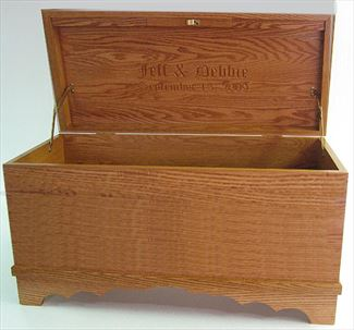 Amish Furniture Hope Chest Personalized Inside the Cover