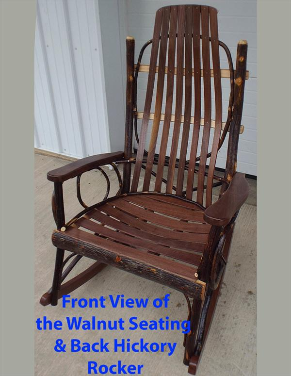 This full size adult 39 s hickory and walnut rocker is a fine example of amish craftsmanship - Automatic rocking chair for adults ...