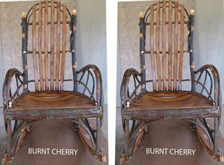 One Pair of Amish Rocking Chairs Hickory BURNT Cherry Seating