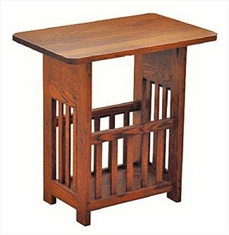 Amish Mission Magazine Table and Rack Oak or Cherry Hardwood