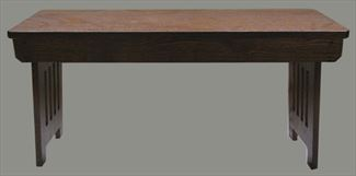 Amish Mission Oak or Cherry furniture Ohio hinge top bench 36 or 48 inch or 60 or 72 inch
