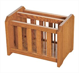 Amish Mission Magazine Rack Available in Oak or Cherry Hardwood