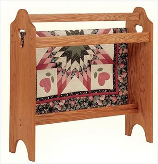 Amish Solid Hardwood Oak or Cherry or Hickory Quilt Rack HH