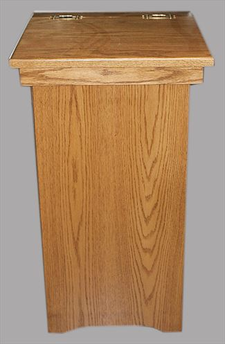 Amish Furniture Oak Hinge Top Trash Plain Container Bin Can 13 gal. Trash Can Delivery Included