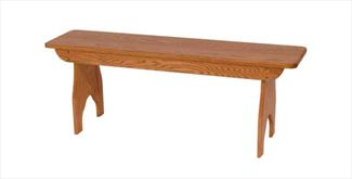 Amish Oak Spit Leg Bench Hardwood Oak 2 or 3 or 4 Foot