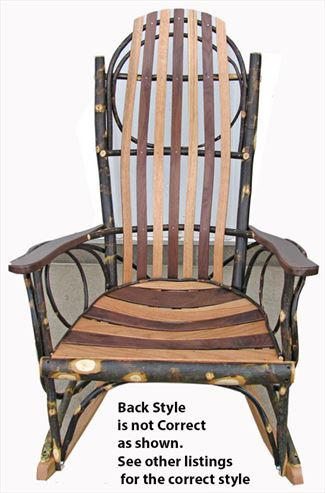 Amish hickory rockers - Automatic rocking chair for adults ...