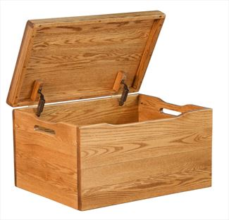 Amish Chest Amish Toy Chest Oak Chest Deluxe Two Safety Hinges
