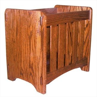 Amish Mission Magazine Stand 17 1/4 inches high x 18 inches width