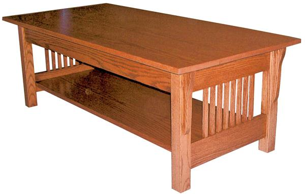 Amish prairie mission coffee table 18 inches high x 48 for Coffee tables 18 inches wide