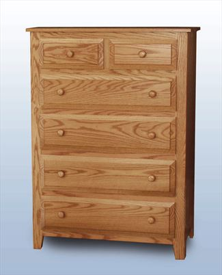 Amish Youth Hardwood Six Drawer Chest