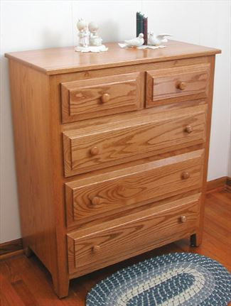 Amish Youth Hardwood Five Drawer Chest