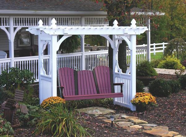 Ohio amish furniture index arts in heaven for White porch swing with stand
