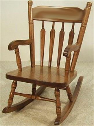 Amish Kids Furniture Rocking Chair, Oak, NO Pattern