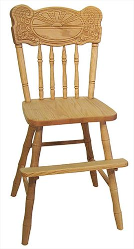 Amish Kid Furniture Youth Chair SUNBURST Oak