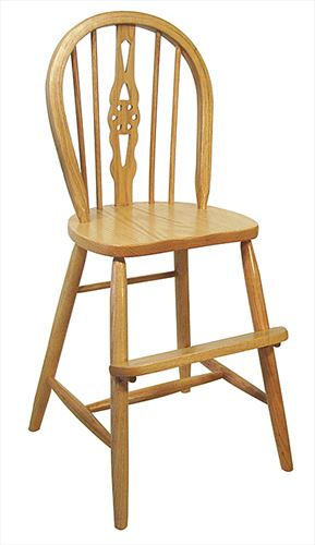 Amish Kid Furniture Youth Chair WINDSOR Oak