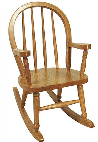 Childs Bow Pattern Rocking Chair Amish Handmade