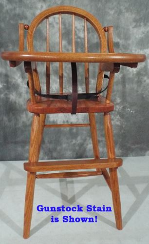 AMISH Baby Furniture-HardWood Bow Back High Chair-Oak or Cherry Handmade7115562