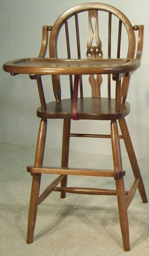 Baby Furniture-Wood High Chair-Amish-Windsor Style  East of the Rockies!