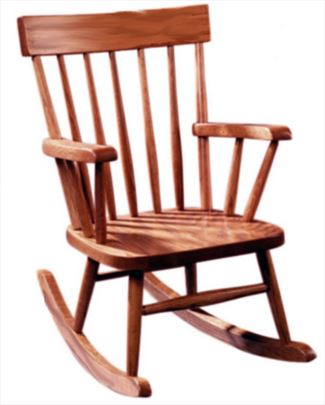 Amish Kids Furniture Child Rocking Chair, oak or cherry