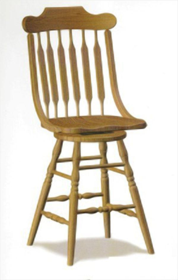 Amish Scoop Seat Swivel Bar Stool Amish Furniture Oak Or
