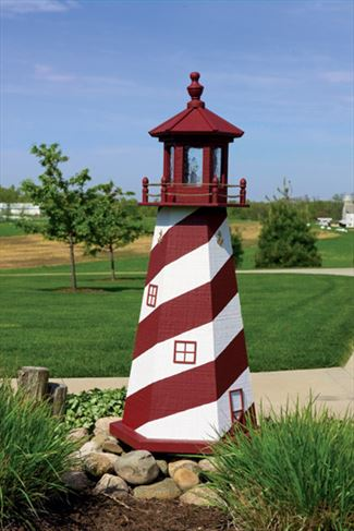 Amish OUTDOOR LIGHTHOUSE 18 inch to Five Foot Handcrafted Cape Hatteras-Red-White Wood Painted