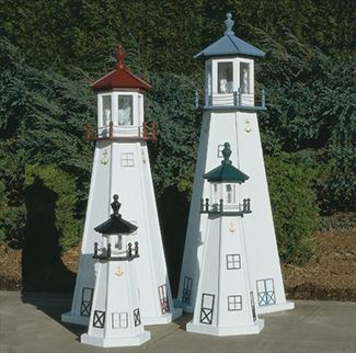 Amish OUTDOOR LIGHTHOUSE 18 in to 5 Foot Handcrafted MARBLEHEAD-TREATED Wood Painted