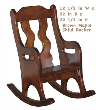 Amish Child Handmade All Wood Child Rocker - All Hardwood