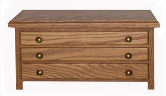 Jewelry Chests, Amish Jewelry Boxes, Three Drawer OAK or Cherry or QSWO