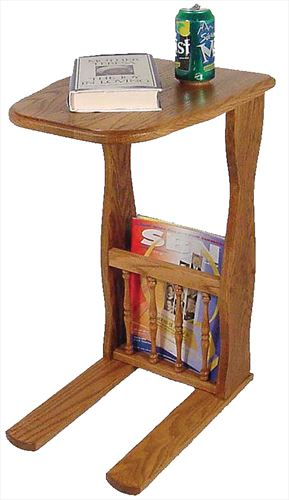 Amish Sofa Server with Magazine Rack Red Oak or Cherry & Other Hardwoods