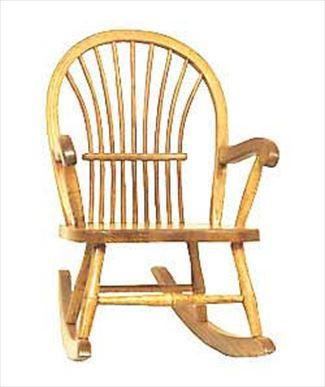 Amish Childs Sheaf Pattern Rocking Chair