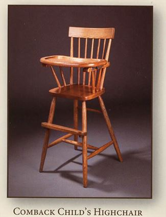 Baby Furniture-Wood High Chair-Amish Comback