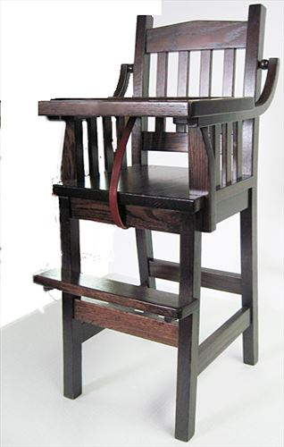 Baby Furniture-Wood High Chair-Amish-Mission Style Finish