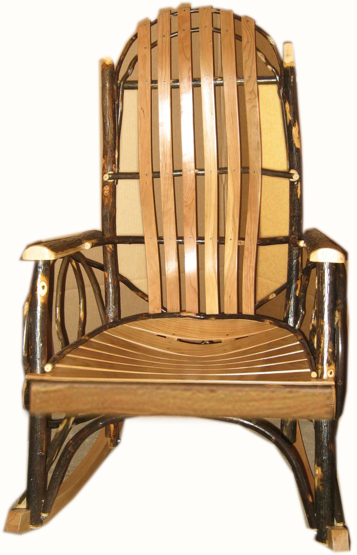 Amish Oak Furniture ~ Amish furniture adults hickory rocker with oak and