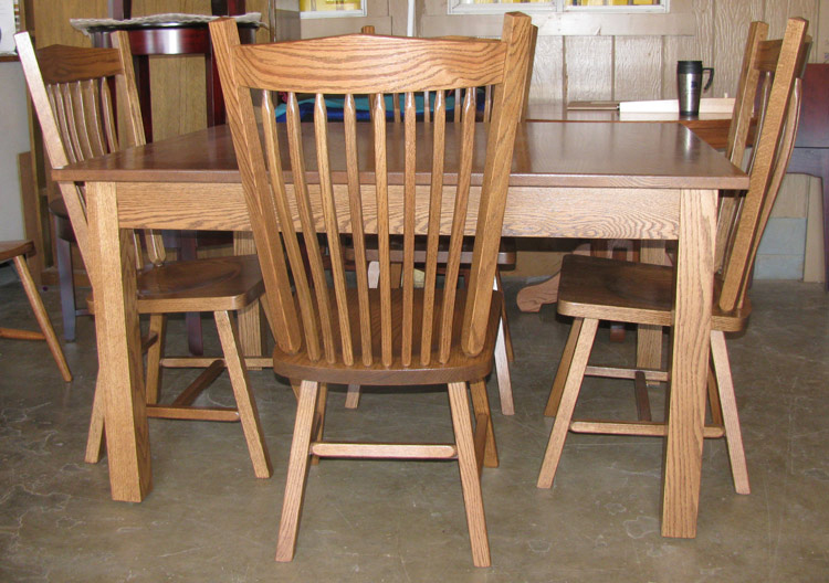 Ohio amish furniture index arts in heaven for Mission style dining table