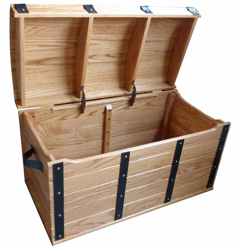 Delicieux Treasure Chest Oak Toy ...